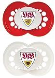 MAM 66239300 – Schnuller, Bundesliga, Football VfB Stuttgart 6-16 Monate, Silikon, Doppelpack