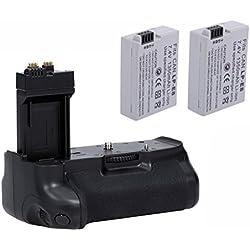 Neewer Pro Batterie Grip (Remplacement pour BG-E8) pour Canon EOS 550D / 600D / 650D / 700D Rebel T2i / T3i / T4i / T5i + 2x 7.4V 1140mAh LP-E8 Remplacement de Batterie