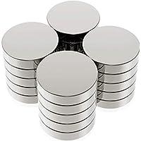 Aimant en Néodyme,20 Piece Ultra Puissant pour Frigo 20x3mm Petits Aimants Ronds pour Réfrigérateur