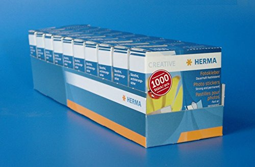 10paquetes HERMA 1071fotográfico adhesivo en dispensador de cartón 1000unidades (10paquetes de 1000= 10.000unidades)
