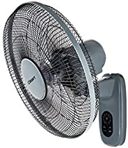 CLIKON - 16-inch WALL FAN WITH REMOTE CONTROL, 5 LEAF BLADE DESIGN, 1150 RPM, TIMER & SWING FUNCTION, 3 SP