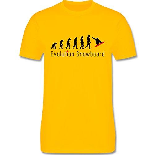 Evolution - Evolution Snowboard - Herren Premium T-Shirt Gelb