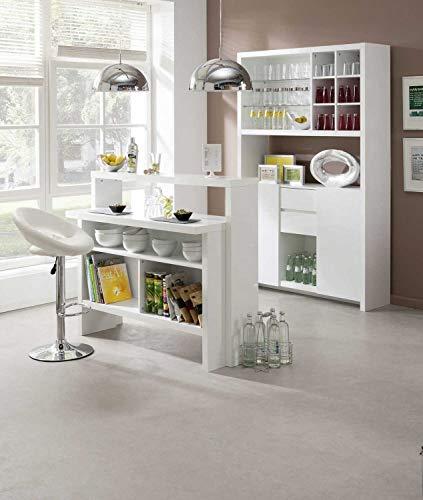 Bar Minibar Scully Weiß Hochglanz - 3