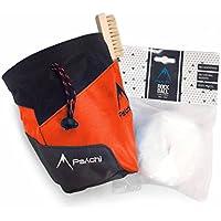 Psychi Premium-Kreidebeutel, Starter-Pack für Bouldern/Klettern, mit Taillen-Gürtel, Kreide-Ball und Bürste.