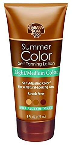 Banana Boat Self-Tanning Lotion, Light/Medium Summer Color for All Skin Tones - 6 Ounce by Banana