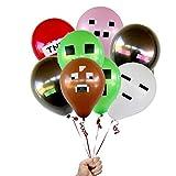 Tyro Hot Sale Minecraft (TNT, Schwein, Kuh, Creeper), Latex-Luftballon, Geburtstagsparty, Dekoration, Ballon, kreatives Spielzeug, 4 Farben, gemischt, 10 Stück/Menge