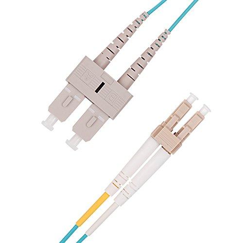 LWL Patchkabel 2m, VANDESAIL 10G Gigabit Glasfaser Fiber Patchkabel mit LC/SC Multi Duplex OM3 50/125 OFNP Kabel -