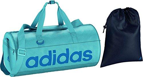 adidas Damen Sporttasche Perforated Team Bag Tasche, Vapour Blue/Unity Blue, 25 x 25 x 50 cm