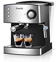 Saachi Coffee Maker/Machine, NL-COF-7056, Silver, 1 Year Brand Warranty