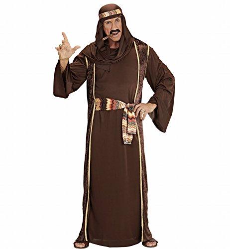 Widmann 4217D - Erwachsenenkostüm Arabischer Scheich, Tunika, Ärmelloser Mantel, Gürtel und Turban, Größe XXL (Arabische Kostüme Männer)