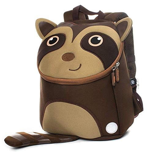 Cocomilo Kinder-Rucksack für Jungen und Mädchen, Kleinkinder, Schultasche, Kinder, Tier-Rucksäcke mit Sicherheitszügeln, Brustgeschirr für Kinder von 2-5 Jahren, Little Raccoon