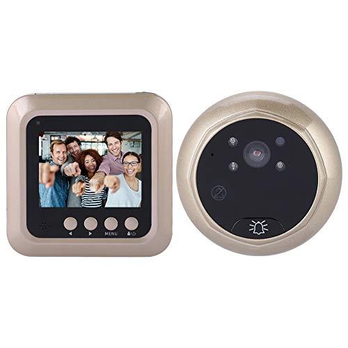 Visor de Puerta Digital, Cámara de la Puerta de la Mirilla de 2.4 Pulgadas 1080P, Timbre de la Seguridad para el hogar con Vista de Lente de 166 Grados para la Seguridad del hogar