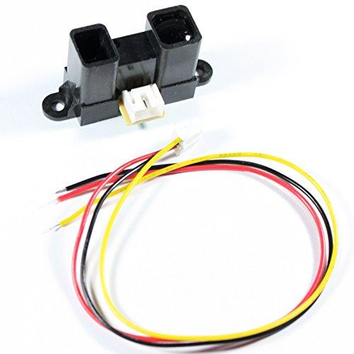 Sharp GP2Y0A02YK0F, 20-150cm, Distanzsensor / Abstandsmesser mit Anschlussleitung, z.B. für Arduino