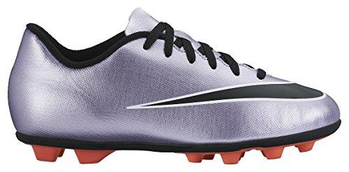 Nike Jr Mercurial Vortex Ii Fg-R, Chaussures de Sport Fille, UK Violet / Noir / Jaune / Blanc (Urbn Lilas / Blk-BRGHT Gest-Blanc)