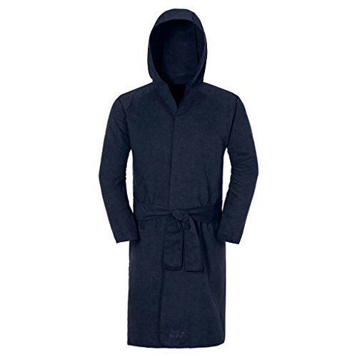 Jack Wolfskin Bademantel Wolfrobe Suede, Night Blue, One size, 8002401-1010