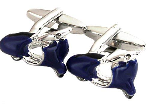 Gemelos ciclomotores plateado + azul-negro barnizada