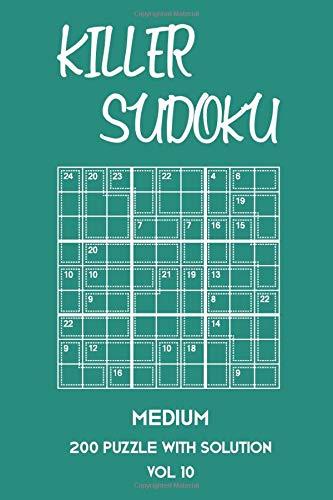 Killer Sudoku Medium 200 Puzzle With Solution Vol 10: 9x9, Advanced sumoku Puzzle Book, 2 puzzles per page