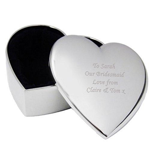 Außenwandleuchte personalisierbar Herz Form Schmuckdose Ring Box personalisierbar Hochzeit Favor Geschenke