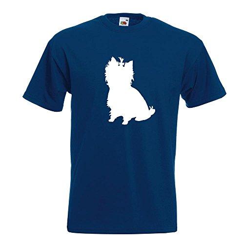 KIWISTAR - Yorkshire Terrier Hunderasse T-Shirt in 15 verschiedenen Farben - Herren Funshirt bedruckt Design Sprüche Spruch Motive Oberteil Baumwolle Print Größe S M L XL XXL Navy