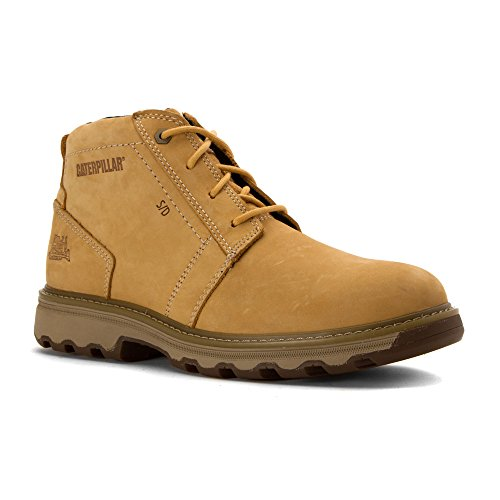 Caterpillar Mens Parker ESD Industrial and Construction Shoe Honey Reset Full Grain Leather