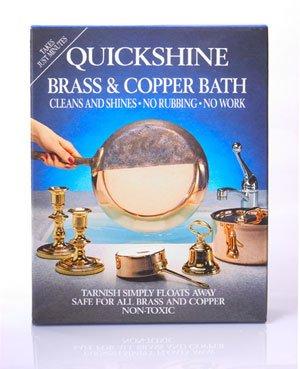 Quickshine - Bañera de latón y cobre - 4 bolsitas