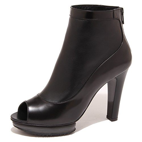 8076O stivaletto HOGAN TRONCHETTO SPUNTATO nero scarpa donna boot woman Nero