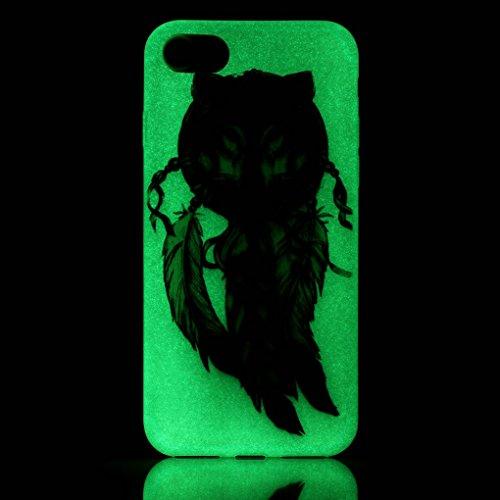 iPhone 7 / iPhone 8 Hülle, SATURCASE Schönes Muster Leuchtend Fluoreszierend Ultra Dünn Weich TPU Gel Silikon Schützend Zurück Case Cover Handy Tasche Schutzhülle Handyhülle Hülle für Apple iPhone 7 / Muster-5