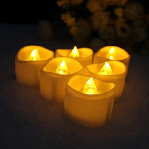 Bazaar 6pcs Fleece Votiv Kerzen flackernde flammenlose LED Dekoration Licht des Tee-Party Hochzeit