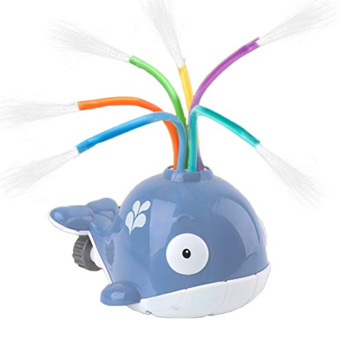 Deeabo Badewannenspielzeug, Sprüh Wasserspielzeug, Kinder Cartoon Whale Splash Wasser angetrieben Sprinkler Spielzeug Baby Bad Spielzeug Indoor Outdoor Garten Rasen Sprinkler Spielzeug, Grauwal