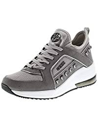 Guess Grace Womens Leather Ankle High Trainers in Black UK Size 3-8