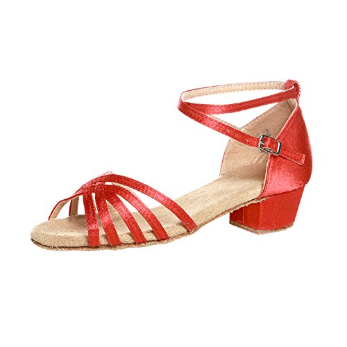 Prático Miúdos Sapato D As Senhoras Meninas Para Das Latino De Quadrados Dos Sapatos Sapatas Sapatas Dança O1R5BqO