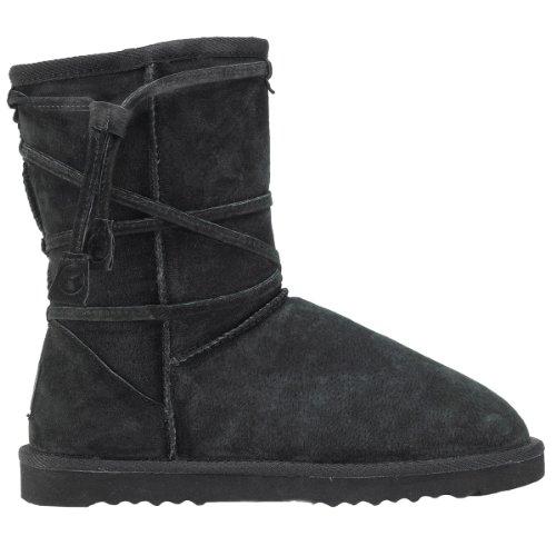 Kustom Tipee Leather W bottes Black