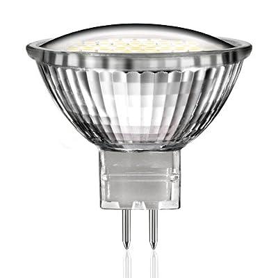 MR16 LED Strahler mit 60 warm-weißen SMD LEDs von parlat (mit GU5.3 Sockel, entspricht 25W (25 Watt) Glühbirne, 12 Volt AC/DC, Lampe, Leuchtmittel, Energiesparlampe, 12V)