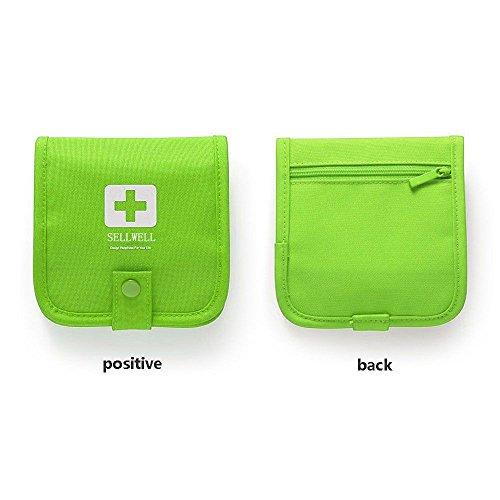 Reise-medizin-schrank (GGG Medizin Tasche Notfall Kits Outdoor Sport Reisen Camping Tragbar Aufbewahrungsbox Grün)