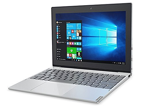 Lenovo Miix 320, 10.1-inch Windows Laptop, 2 in 1 Laptop, (Intel Atom X5-Z8350, 1.44 GHz, 4 GB DDR3L, 64 GB eMMC, Windows 10 Home), Platinum, 80XF00DRUS image