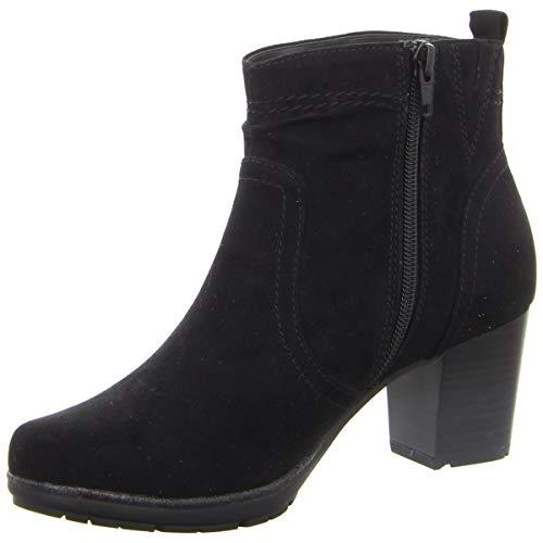 Jana Damen Stiefeletten Stiefeltte aus schwarzem Textil 25371/001 schwarz 614584