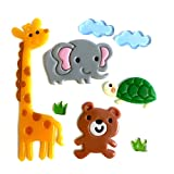 Outlook Design Italia Gel Gems Zoo Tiere Bär, Elefant, Giraffe und Schildkröte, mehrfarbig, 20x 20x 1cm