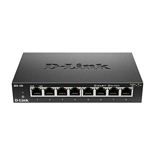 D-Link DGS-108/E 8-Port Layer2 Gigabit Switch schwarz