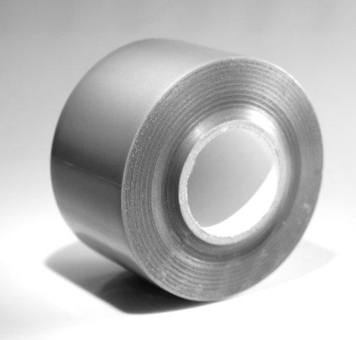 PVC Klebeband 50 mm x 33 m, 2er-Pack | silbergrau | wasserdicht, kältefest | Stärke 0,15 mm | Reißfestigkeit 70 N/25 mm | Klebkraft 6,5 N/25 mm | Anwendungstemperatur -10 °C bis 70 °C