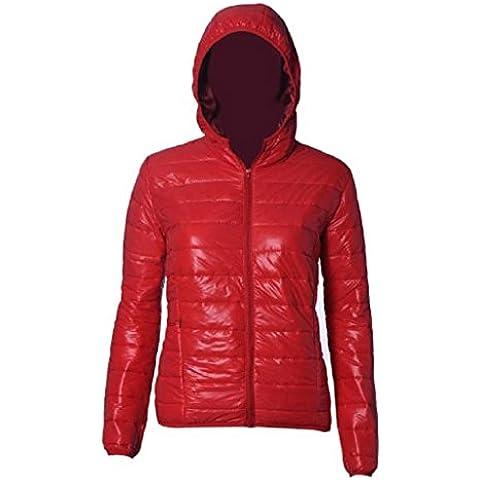 FEITONG Las mujeres del color del caramelo caliente del invierno Delgada Slim Down Abrigo capa de la