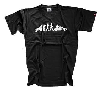 Shirtzshop T-shirt Standard Edition Chopper Evolution Motorrad, Schwarz, S, 4055003693687