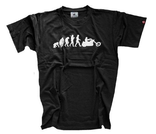 Shirtzshop T-Shirt Standard Edition Chopper Evolution Motorrad, Schwarz, L, 4055003693663