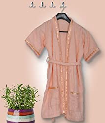 Skumars Love Touch - Kids Bath Robe - Peach - Age: 1 to 2 years