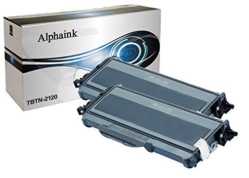 Alphaink KIT-2-AI-TN2120 Kit 2 Toner compatibili per Brother HL 2140 HL 2150 HL 2150N HL 2150 W HL 2170 HL 2170 NW HL2170W DCP 7030 DCP 7040 DCP 7045 DCP 7045N MFC 7320 MFC 7440 MFC 7440N MFC 7840 MFC 7840W, 2500 copie al 5% di Copertura