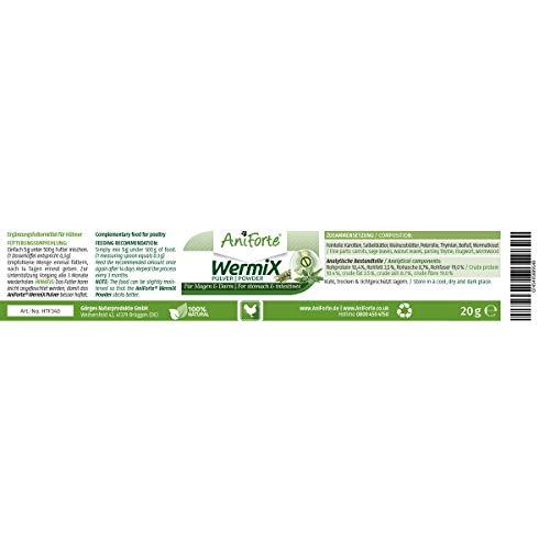 AniForte Wurm-Formel 20 g- Naturprodukt für Hühner, Gänse und Grossvögel - 4
