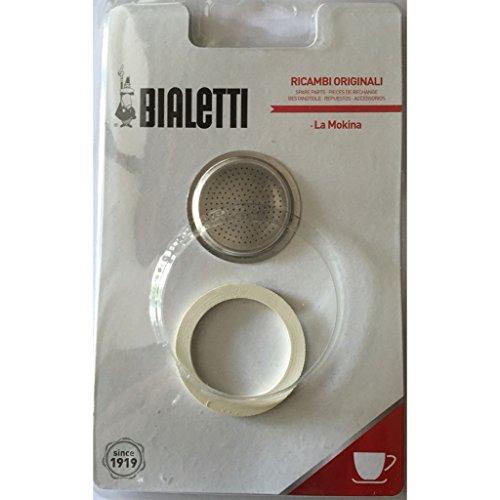 Bialetti guarnizione e filtro ricambio per caffettiera mokina 1/2 tazza