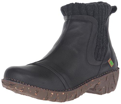 El Naturalista Ne23 Soft Grain Yggdrasil, Stivali Chelsea Donna, Nero (Black N01), 38 EU