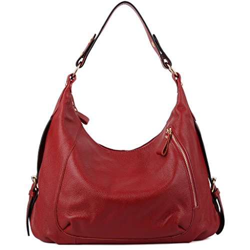 yaluxe-womens-leather-hobo-cross-body-shoulder-bag-with-front-smartphone-pocket-red