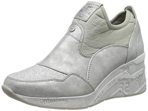 Mustang Damen 1319-401-21 Slip On Sneaker, Silber (Silber 21), 38 EU