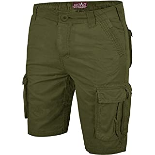 westAce Mens Camo Shorts Cargo Combat Army Half Pant Work Wear Camouflage 100% Cotton Chino Shorts[Khaki - AFS Chino, 34]